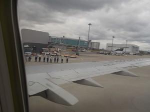 神戸空港でのお見送り