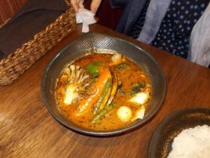 鶏肉と野菜のスープカレー辛さ10倍